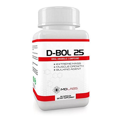 D-BOL 25® - Testosterone Booster & Anabolic Bulking Agent / Legal Muscle Growth Activator / 30 Days Supply Test