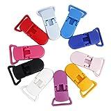 nicebuty Set 10Stück Clip Zange für Schnullerkette Trägerbreite Zubehör DIY Farbe Melange
