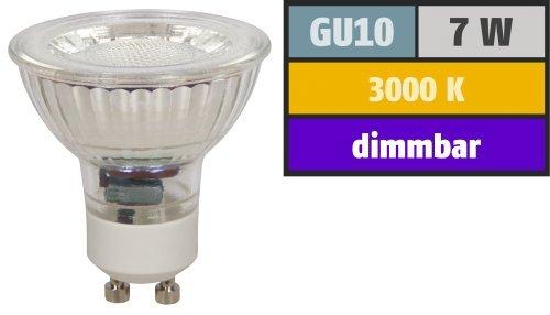 Preisvergleich Produktbild LED-Strahler McShine ''MCOB'' GU10. 7W. 450 lm. warmweiß. dimmbar