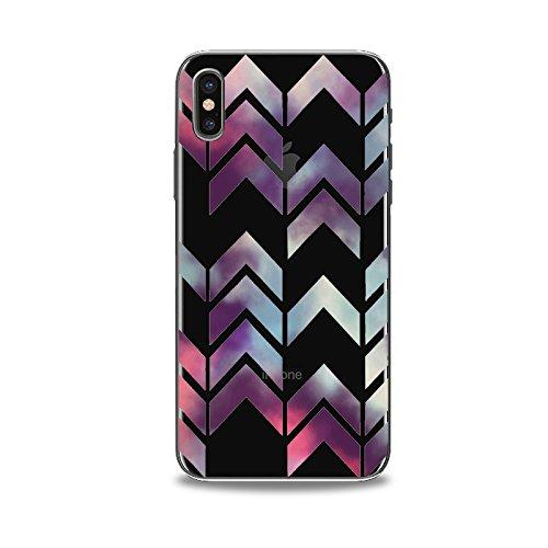 Coque iPhone X Housse étui-Case Transparent Liquid Crystal en TPU Silicone Clair,Protection Ultra Mince Premium,Coque Prime pour iPhone X-Pop-style 3 5