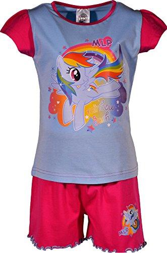 LP My Little Pony 100% Baumwolle Shortie Pyjamas PJ Nachtwäsche[7-8 Jahre][Rosa] (Mlp-pyjama)
