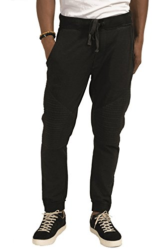 trueprodigy Casual Herren Marken Jogginghose einfarbig Basic, Sweathose cool und stylisch Vintage (Sportlich & Slim Fit), Chino Sweatpant für Männer, Größe:L, Farben:Schwarz