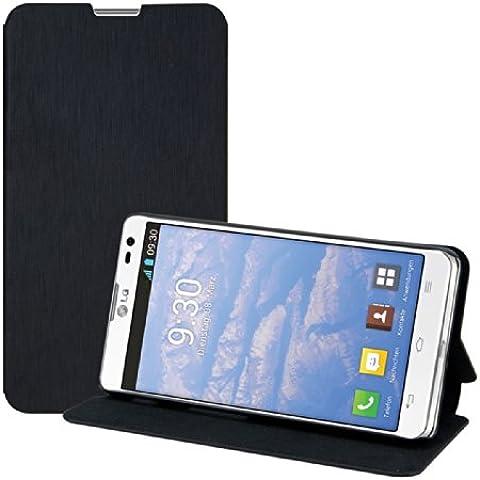 kwmobile Funda potectora práctica y chic FLIP COVER para LG Optimus L9 II en negro