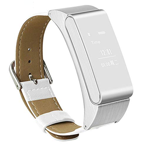 M8 Smart Armband Bluetooth Headset Fitness Kalorien Schritt Motion Tracker Blutdruck Herzfrequenz Schlafdetektor Männer und Frauen Smart Health Watch,White
