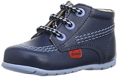 Kickers Unisex Baby Kick Hi Walking Shoes - Blue, 1 UK Child (17 EU)