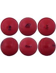Kosma Coppa del Mondo Inghilterra e Galles 2019 Windball Practice Cricket Ball   Palline da Allenamento morbide - Confezione da 6 - Colore: Rosso