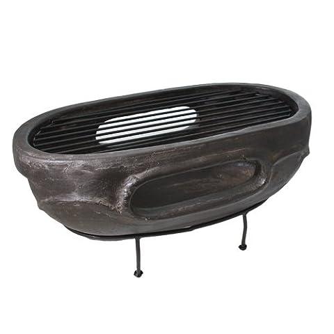 ovale d'extérieur à charbon Pierre Argile barbecue Dessus de table