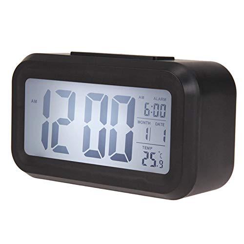 NAOZHONG Nuevo Reloj Despertador Digital Reloj Reloj Grande Pantalla LCD Snooze Electronic Kids Reloj...