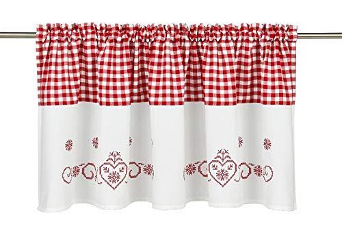 80*200 cm Omeny ricamo stile country farfalla tenda per la ...
