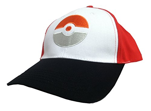 hwarzer Hut mit orange Logo-Pokemon gehen Kostüm-Cosplay-Kappe (Rote Pokemon Kostüm)