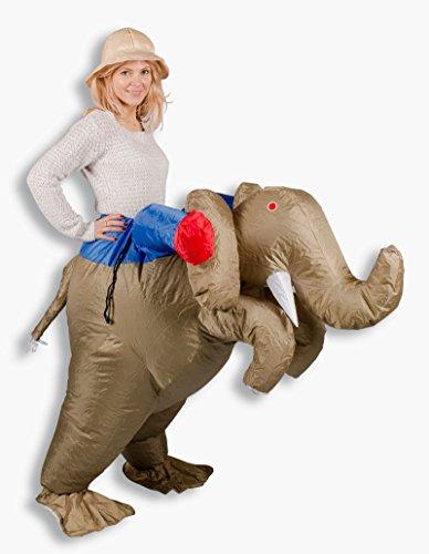 Aufblasbare Erwachsene Für Elefanten Kostüm - Aufblasbares Kostüm Elefanten Reiter Karneval Junggesellenabschied Verkleidung