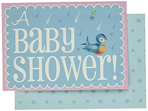 Baby On Board Baby Shower Invites and Envelopes, Pack of 10, Multi-colour