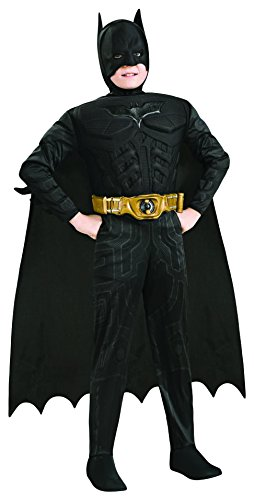 Rubie's IT620451-M - Costume per Bambini Batman Deluxe con Muscoli in Scatola, M