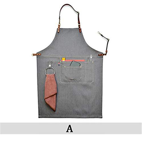 8cf1fd510bf Gris cocina Denim BBQ Delantal limpieza Delantal cocina