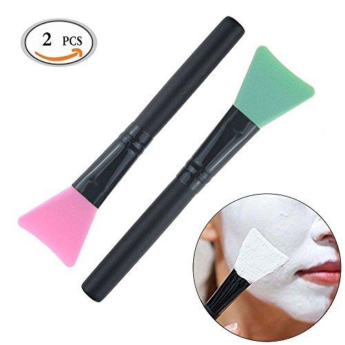MLMSY Makeup Maschera per la spazzola Soft Silicone Facciale Fango Maschera Spazzola Maschera Professionista Attrezzo di bellezza Pennello cosmetico in silicone 2 Pack Colore casuale