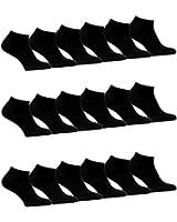 12 bis 60 Paar Damen Herren Sneaker Socken Sport Füßlinge Baumwolle Schwarz Weiß trendige Farben 35-38 ; 39-42 ; 43-46