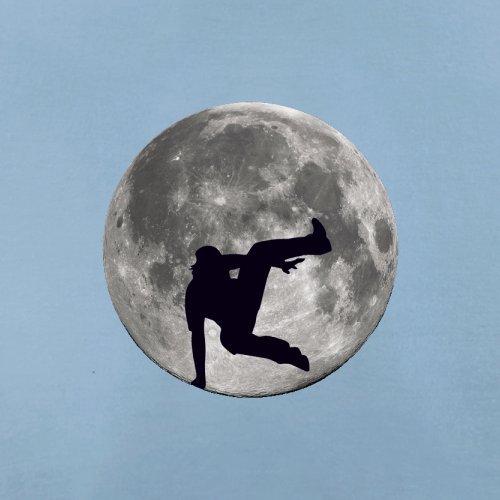 Free Running Moon - Herren T-Shirt - 13 Farben Himmelblau