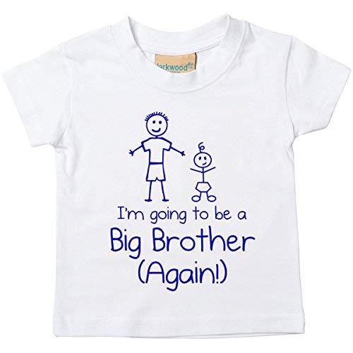 I m The Big Brother camiseta de color blanco para beb/é disponible en tama/ños de 0/ /6/meses reci/én nacido Brother regalo blanco blanco Talla:0-6 meses