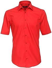 Venti Herren Kurzarmhemd Slim Fit rot 001620 406