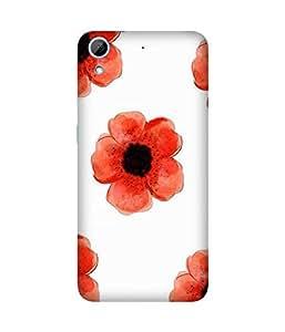 Red Flower HTC Desire 826 Case
