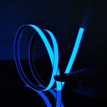 1M 3 pieds Bleu Néon Glowing stroboscopique Electroluminescent EL bande (Bleu)