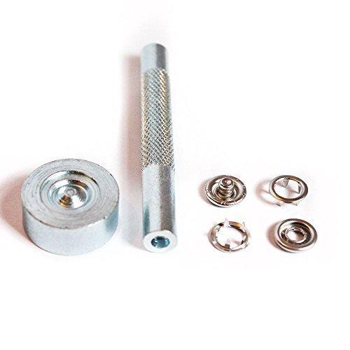 r Poppers + Werkzeugset, Stanze Stanze & Schnapp befesstiger,Druckknöpfe,für Lätzchen,Schnuller Clips, nickelfrei von Trimming Shop ()