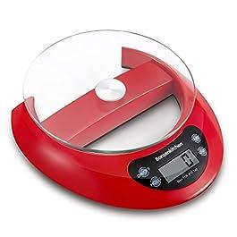 Bilancia da cucina digitale multifunzione Bonsenkitchen per cucina e cottura con vassoio di vetro con funzione e…