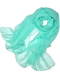 Pañuelo Cuello Mujer Seda de Hielo Fular Bufanda Estola Chal Ideal for Playa o Regalo 185cm*110cm