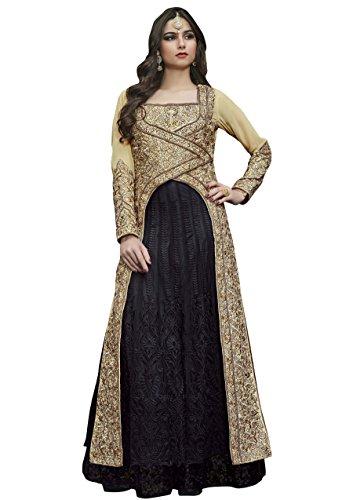 RK Exports Women Georgette Ethnic Stylist Dress Lehenga Choli Beige Color