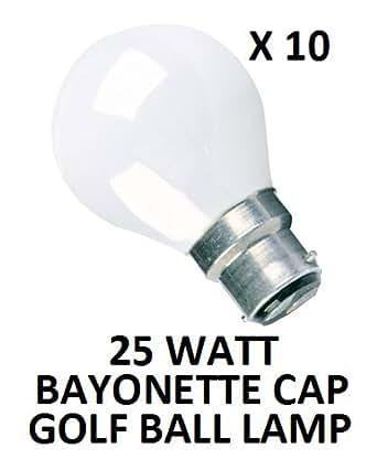 Lot de 10 ampoules rondes G45 à culot baïonnette B22 Blanc opaque 25 W Durée 2000 heures