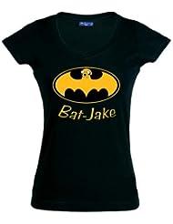 Camiseta hora de aventuras Bat-jake chica manga corta (Talla: M Chica manga corta Ancho/largo[42cm/58cm])