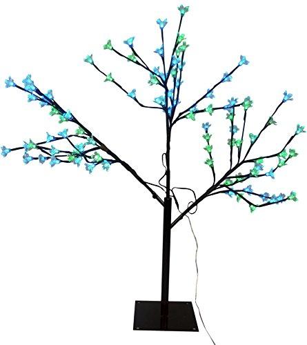 TD 80cm Lime Green & Blue LED leuchten Kirschblüten-Baum - Weihnachten & das ganze Jahr ()