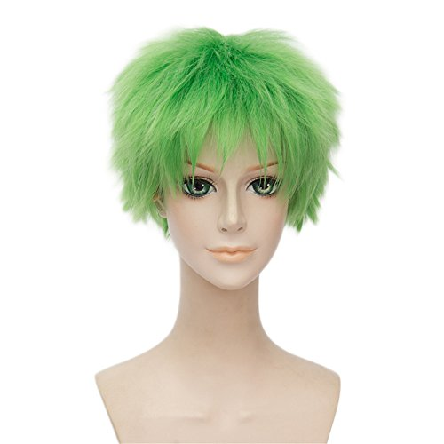 Kostüme Zoro Roronoa (LanTing Cosplay Perücke One Piece Roronoa Zoro Green Perücke Corta Styled Frauen Cosplay Party Fashion Anime Human Costume Full wigs Synthetic Haar Heat Resistant)