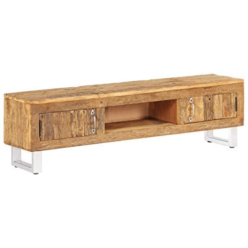 vidaXL Meuble TV Bois de Traverses Recyclé Massif Salon Mobilier Table de TV