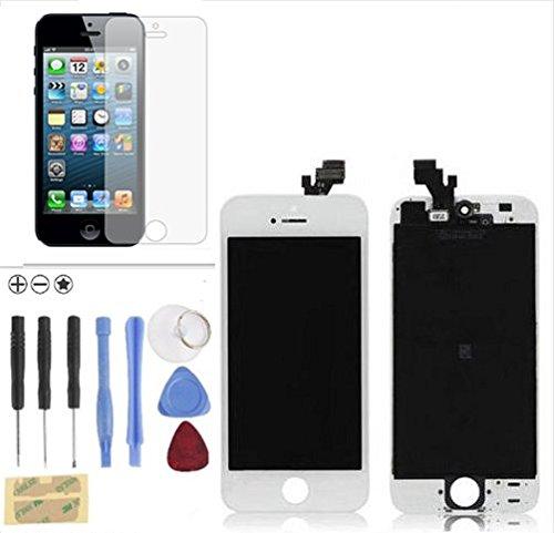 TOUCH SCREEN + LCD DISPLAY RETINA + FRAME PER APPLE IPHONE 5 VETRO SCHERMO Completo Assemblato + KIT STRUMENTI MONTAGGIO + Pellicola Omaggio Bianco White