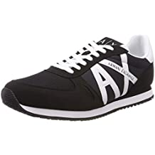 f7cc7e657f8 Armani Exchange Lace Up Sneaker with Logo