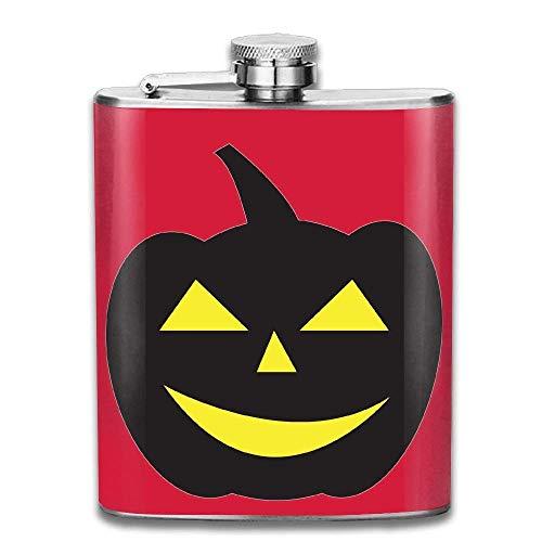 Nifdhkw Happy Halloween Stainless Steel Pocket Flagon Shot Flask Hip Flask Wine Pot (7oz) (Halloween Shot Happy)