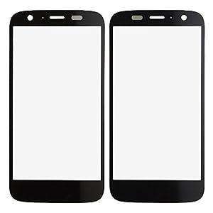 BisLinks® Neu Schwarz Vorne Outer Bildschirm Glas Lens Ersatz Für Motorola MOTO G XT1032