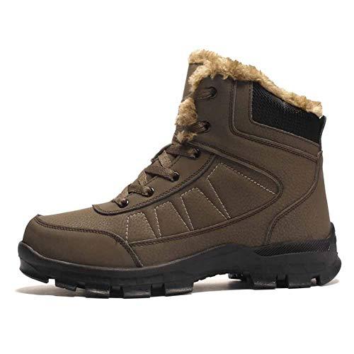 Botines Impermeables para Hombre, Botines de Invierno para Hombres Botas de Nieve cálidas Zapatos de Trabajo de Moda Botas tácticas para Hombres Zapatos de Tobillo de Goma Impermeables
