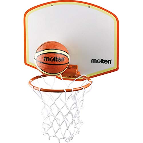 Molten Minibasketball-Set, Klebehalterung Basketballset, Mehrfarbig, 280 x 155 mm