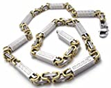KGM Accessories Herren 's Chunky Silber Gold Königskette