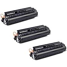Print Cartridge 88A/CC388A HP Compatible Toner Cartridge for Use in P1007, P1008, P1106, P1108, M1136 MFP, M1213nf, M1216nfh, M1218nfs, M126nw,M128fn,M128fw Single Color Toner (Black) (Pack of 3)