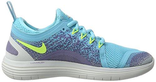 Nike Damen Free Run Distance 2 Laufschuhe Blau (Polarized Blue/Volt-Iron Purple-Purple E)