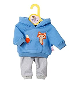 Zapf Dolly Moda 870136 Accesorio para muñecas Juego de ropita para muñeca - Accesorios para muñecas (Juego de ropita para muñeca, 3 año(s), Azul, Gris, 38-46 cm, 300 mm, 38 mm)