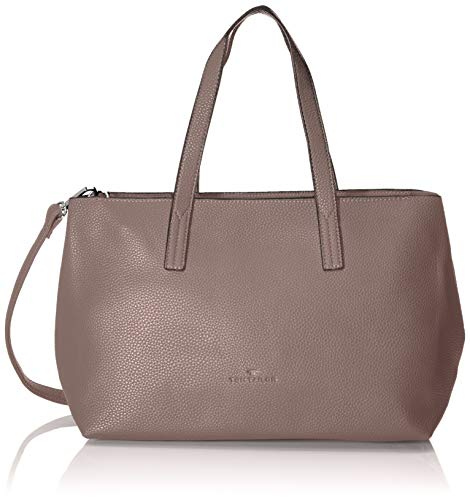 TOM TAILOR Shopper Damen, Marla, Pink (Old Rosé), 34x21x12 cm, TOM TAILOR Schultertasche, Handtaschen Damen -