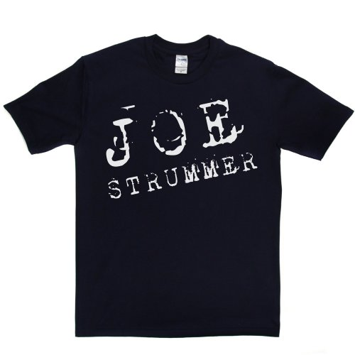 Joe Strummer 3 British Punk Thrash UK London T-shirt Marineblau