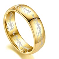 The Lord Of The Rings Gold Plated Ring
