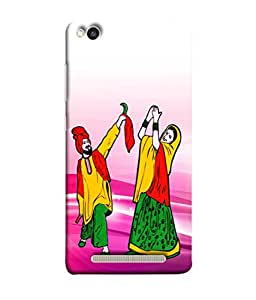 PrintVisa Designer Back Case Cover for Xiaomi Redmi 3s (Couple Dancing Bhangara)