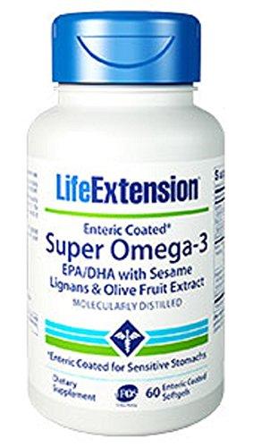 Super Omega3 EPADHA with Sesame Lignans Olive Fruit Extract 60 enteric coated softgels