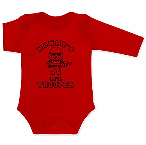 Green Turtle T-Shirts Mommy's Lil Trooper - Geschenk für Sci-fi Fans Baby Langarm Body 74/80 (6-12M) ()